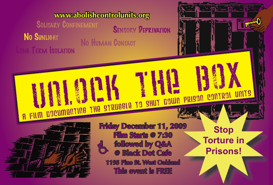 Unlock the Box at Black Dot Cafe flier
